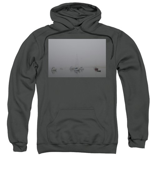 Waiting Out The Fog Sweatshirt by David Chandler