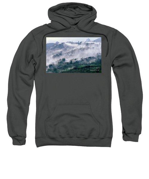 Foggy Mountain Of Sa Pa In Vietnam Sweatshirt