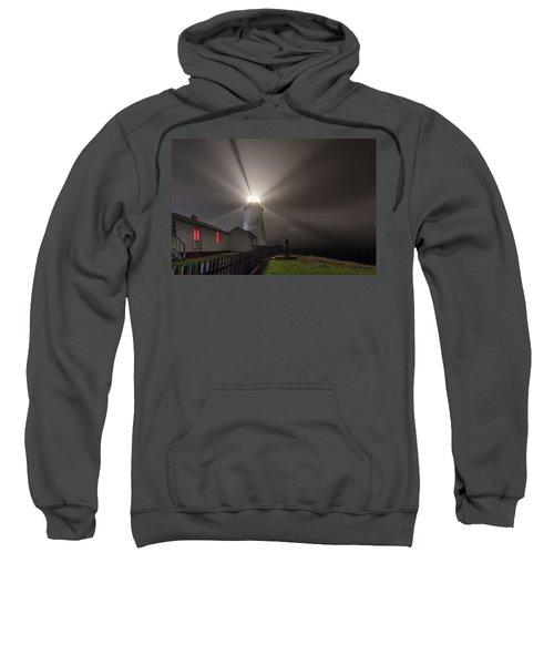 Foggy Night At Pemaquid Point Lighthouse Sweatshirt
