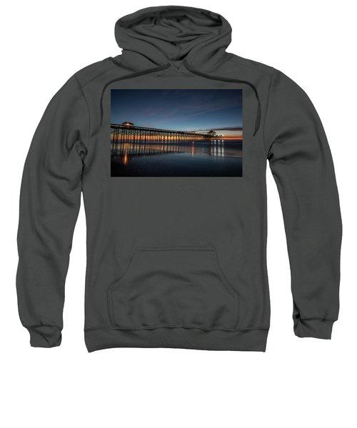 Folly Beach Pier Before Sunrise Sweatshirt