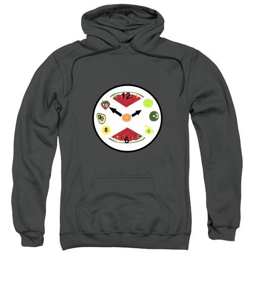 Food Clock Sweatshirt by Kathleen Sartoris