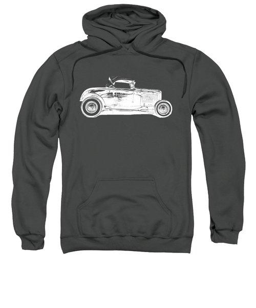 Ford Hot Rod Invert White Ink Tee Sweatshirt