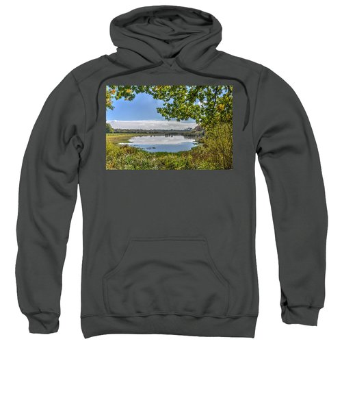 Forest Lake Through The Trees Sweatshirt