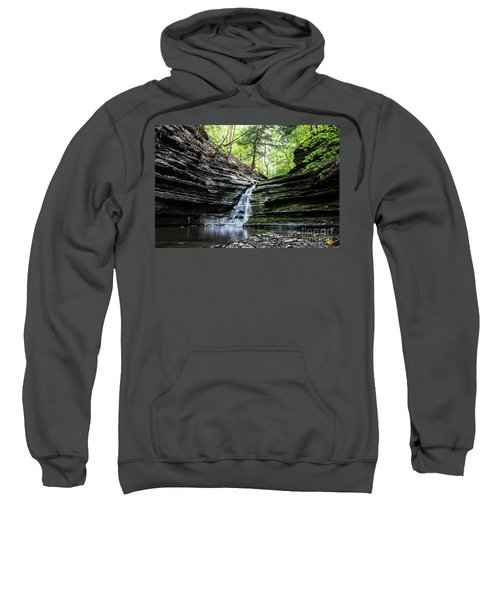 Sweatshirt featuring the photograph Forest Waterfall by MGL Meiklejohn Graphics Licensing