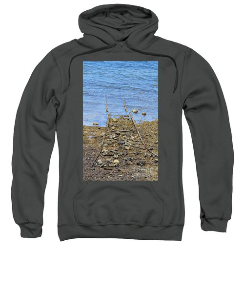Sweatshirt featuring the photograph Forgotten Line by Stephen Mitchell