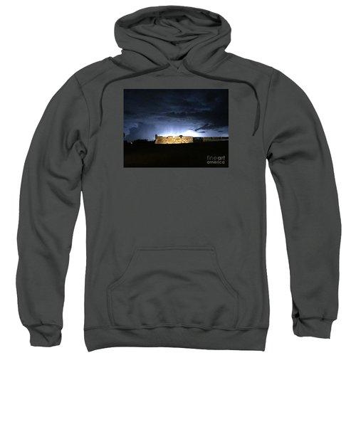 Lightening At Castillo De San Marco Sweatshirt