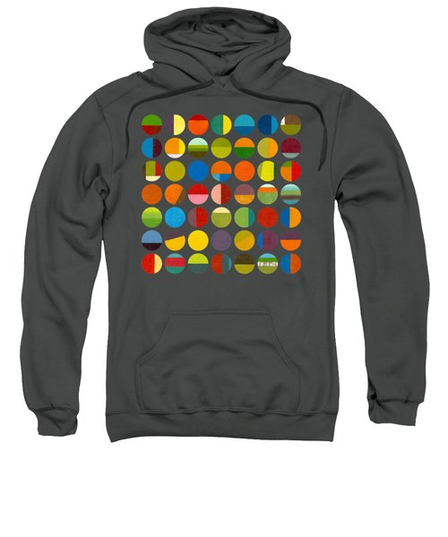 Sweatshirt featuring the painting Forty Nine Circles by Michelle Calkins