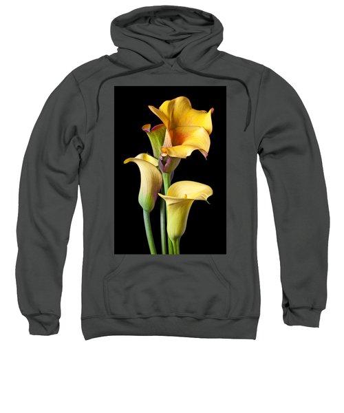 Four Calla Lilies Sweatshirt