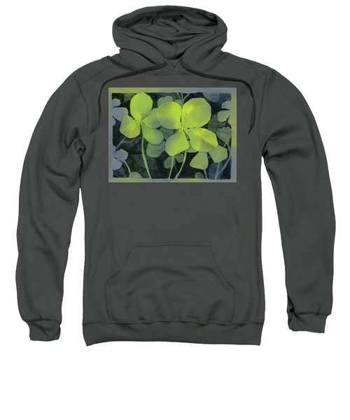 Four Leaf Clover Watercolor Sweatshirt