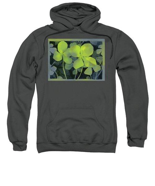 Four Leaf Clover Watercolor Sweatshirt