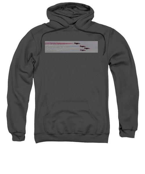 Four Red Arrows Smoke Trail - Teesside Airshow 2016 Sweatshirt