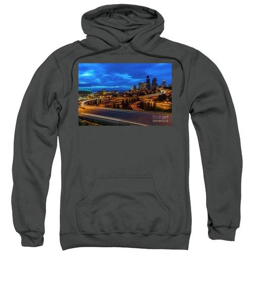 Freeway 5 North To Seattle Sweatshirt