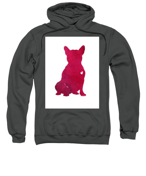French Bulldog, Abstract Dog Art Print, Kids Wall Decor, Pink Watercolor Painting, Dog Art Print Sweatshirt