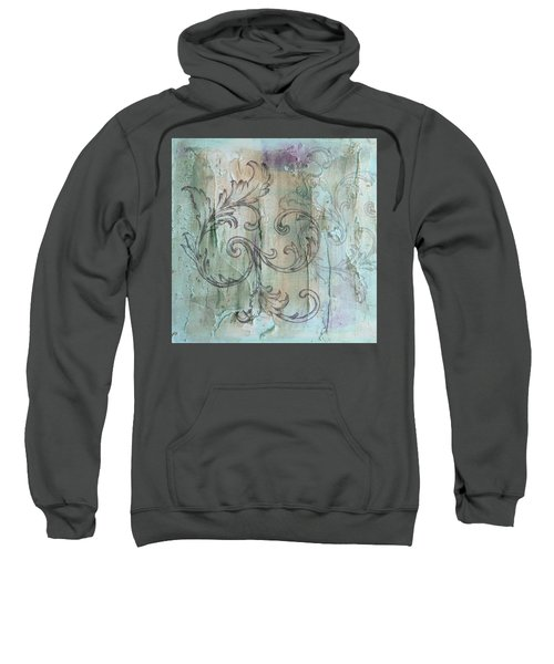 French Country Scroll In Muted Blue Sweatshirt