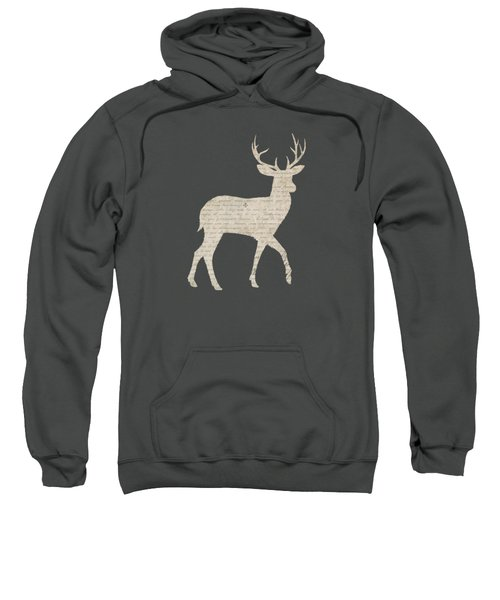 French Script Stag Sweatshirt