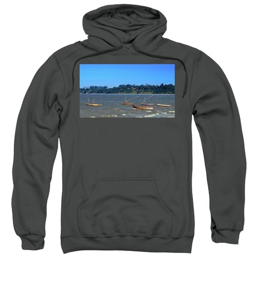 Frolicking Fishing Boats At Ketembe Sweatshirt