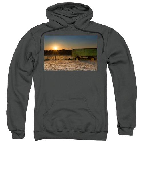 Frosty John Deere Sunrise Sweatshirt