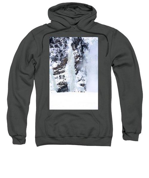 Frozen Montmorency Falls  Sweatshirt