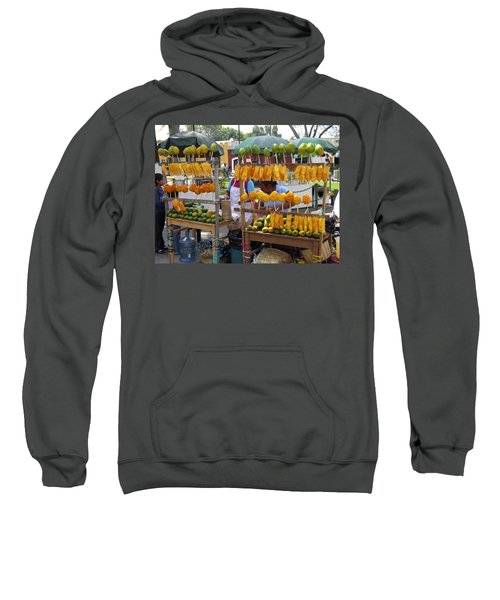 Fruit Stand Antigua  Guatemala Sweatshirt by Kurt Van Wagner