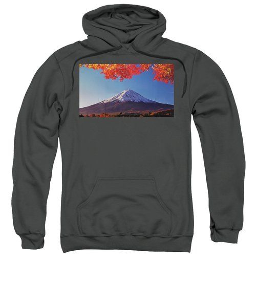 Fuji Shine In Autumn Leaves Sweatshirt
