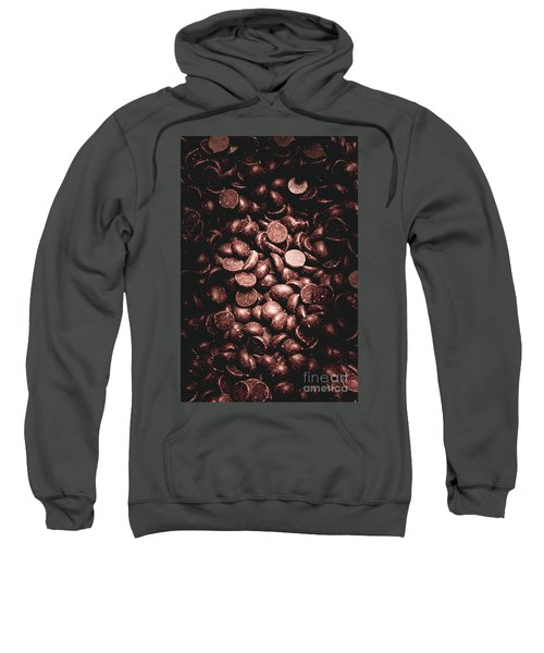 Full Frame Background Of Chocolate Chips Sweatshirt