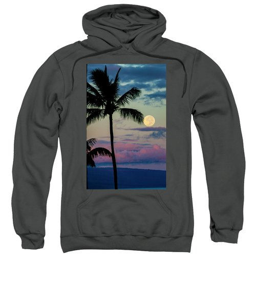 Full Moon And Palm Trees Sweatshirt