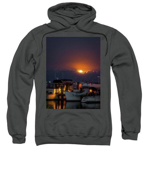 Full Moon At Titusville Sweatshirt