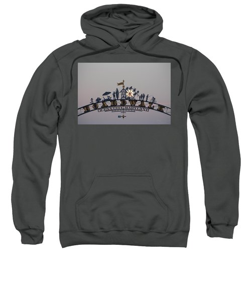 Full Moon In The Boardwalk Arch Ferris Wheel Sweatshirt