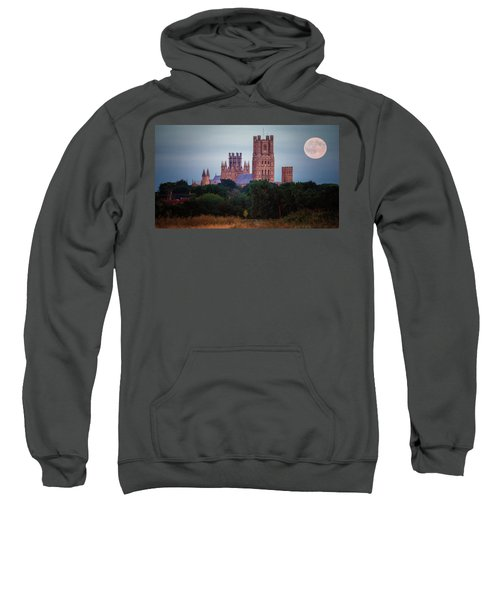 Full Moon Over Ely Cathedral Sweatshirt