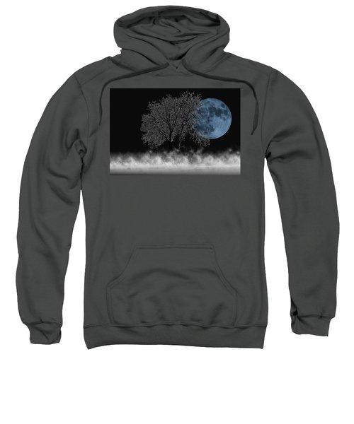 Full Moon Over Iced Tree Sweatshirt