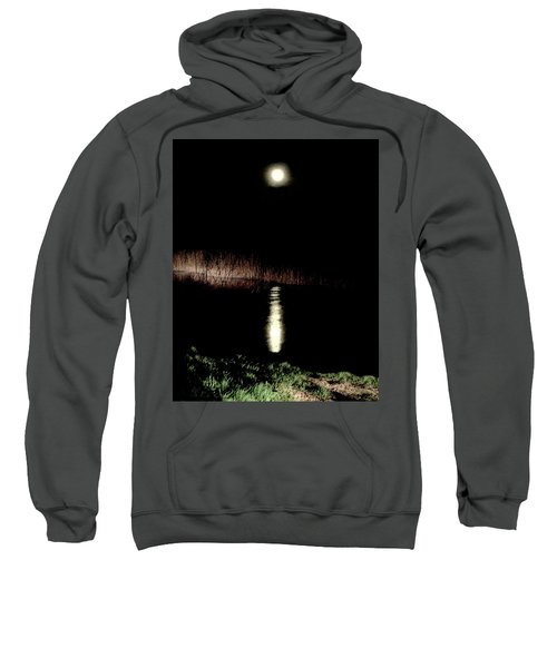 Full Moon Over Piermont Creek Sweatshirt