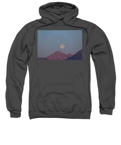 Full Moon Over The Tetons Sweatshirt