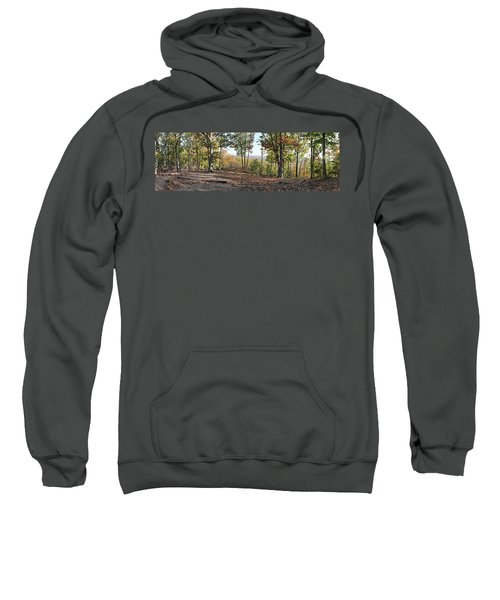 Full Panoramic View From The Summit Of Brown's Mountain Trail Sweatshirt