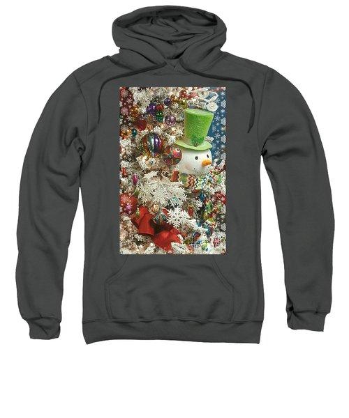 Fun Snowman Holiday Greeting Sweatshirt