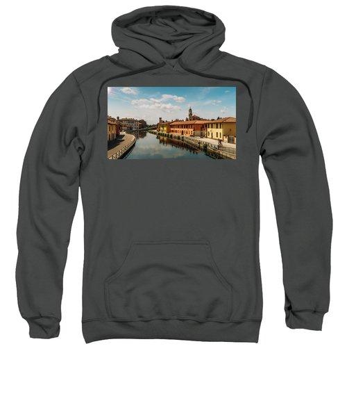 Gaggiano On The Naviglio Grande Canal, Italy Sweatshirt