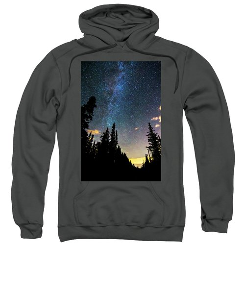 Sweatshirt featuring the photograph  Galaxy Rising by James BO Insogna