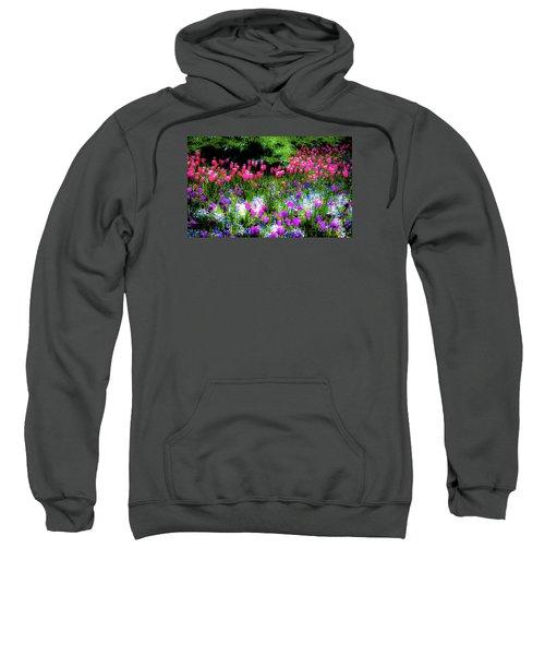 Garden Flowers With Tulips Sweatshirt