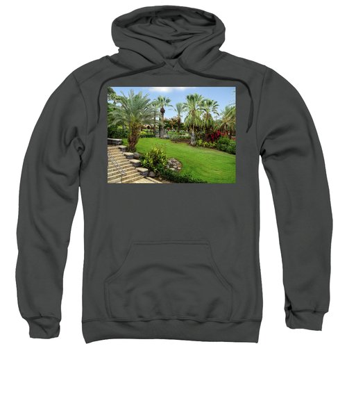 Gardens At Mount Of Beatitudes Israel Sweatshirt
