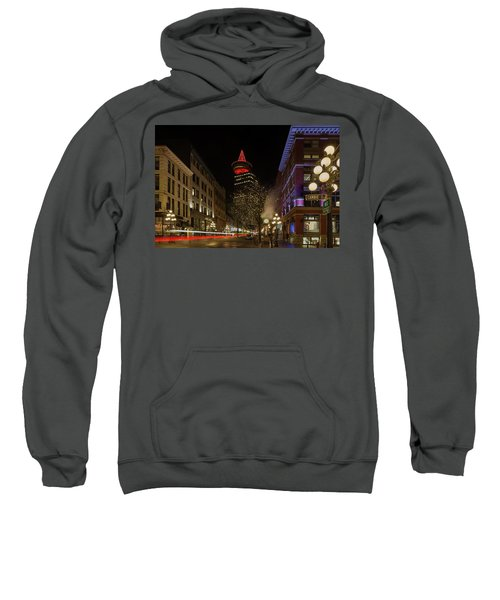 Gastown In Vancouver Bc At Night Sweatshirt