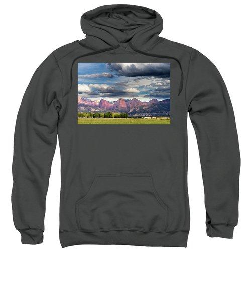 Gathering Storm Over The Fingers Of Kolob Sweatshirt