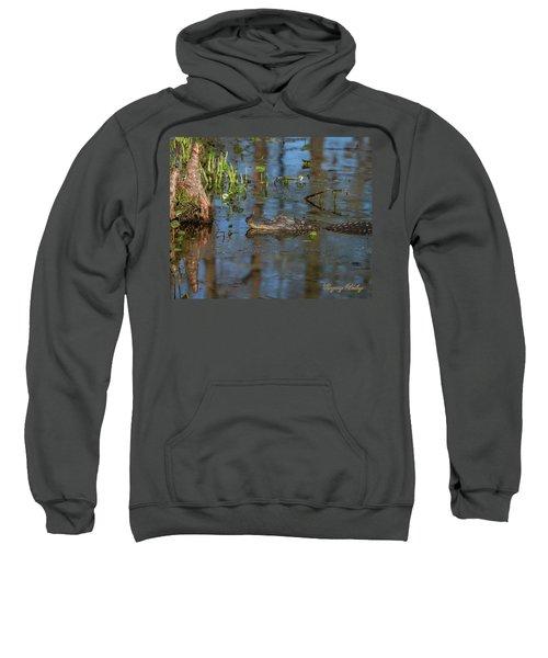 Gator In Cypress Lake 3 Sweatshirt