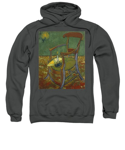 Sweatshirt featuring the painting Gauguin's Chair by Van Gogh