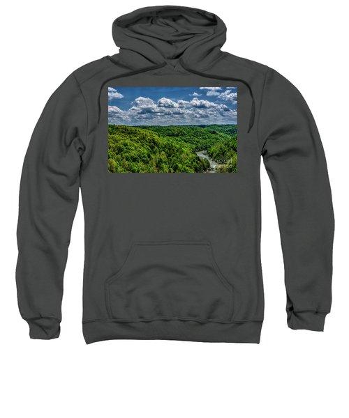 Gauley River Canyon And Clouds Sweatshirt