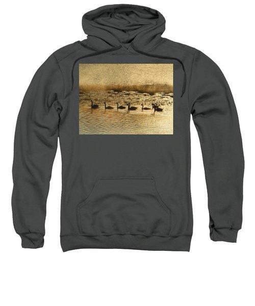 Geese On Golden Pond Sweatshirt