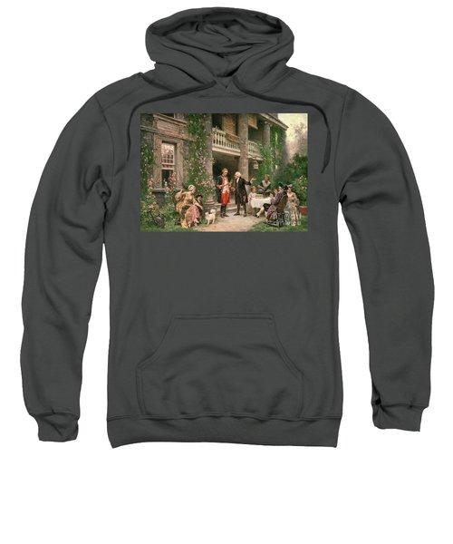 George Washington At Bartrams Garden Sweatshirt
