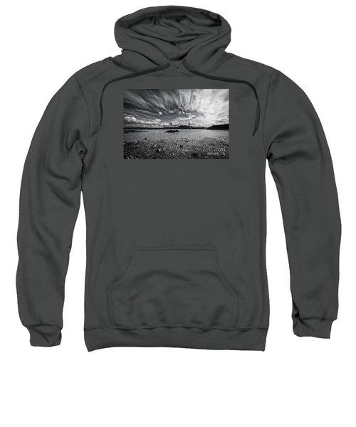 Geothermal Pool In Iceland Bw Sweatshirt