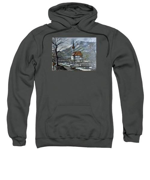 German Church At Ramsau  Sweatshirt