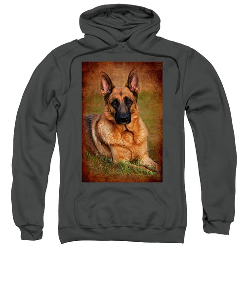 German Shepherd Dog Portrait  Sweatshirt