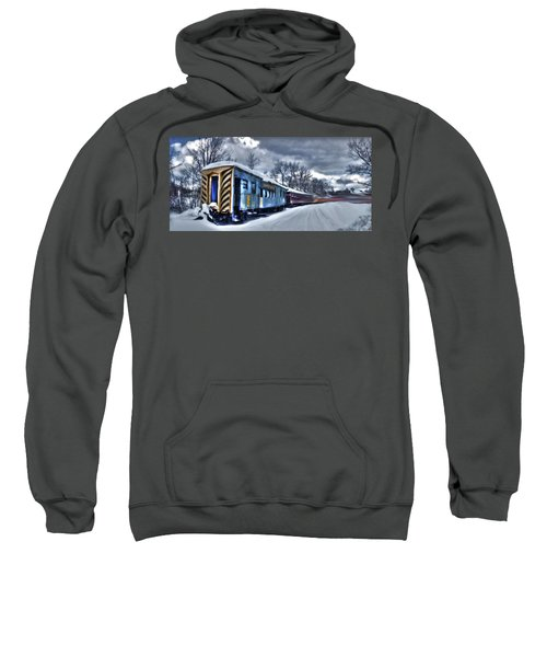 Ghost Train In An Existential Storm Sweatshirt
