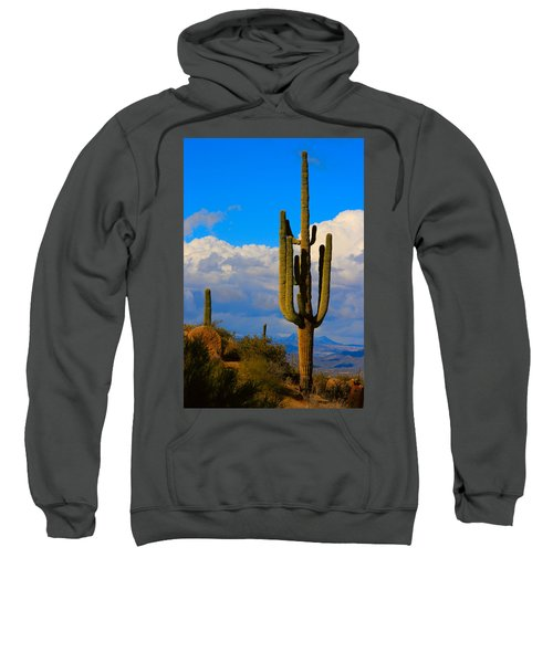 Giant Saguaro In The Southwest Desert  Sweatshirt